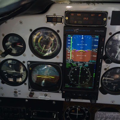 Control panel of a plane