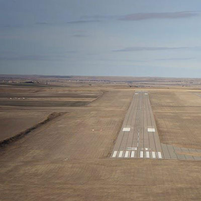 picture of runway from the sky